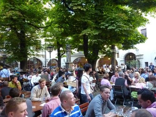 Hofbrau Haus beer garden