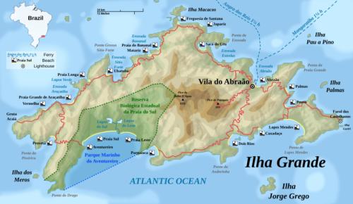 Map of Ilha Grande