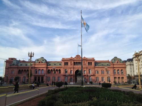 Casa Rosada at Plaza de Mayo