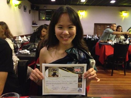 Tango lesson certificate
