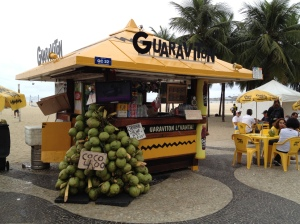 Drinks kiosks that line the beaches