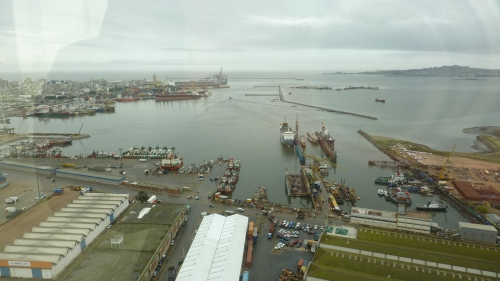 View of the port from Antel Tower