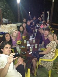 Tour group at BBQ and Caipirinhas