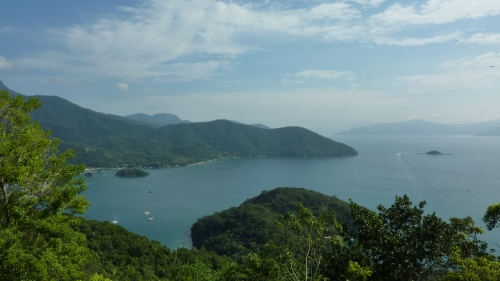 View during the hike to Lopes Mendes