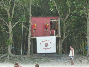 Lifeguards on Lopes Mendes