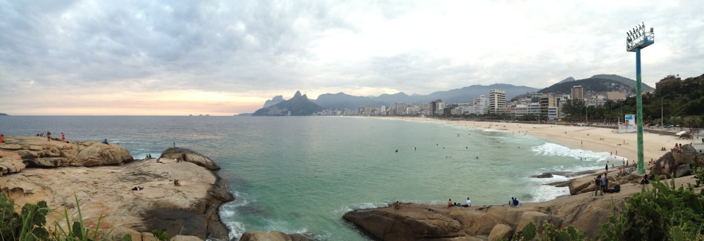 Panoramic of Ipanema from Aporador