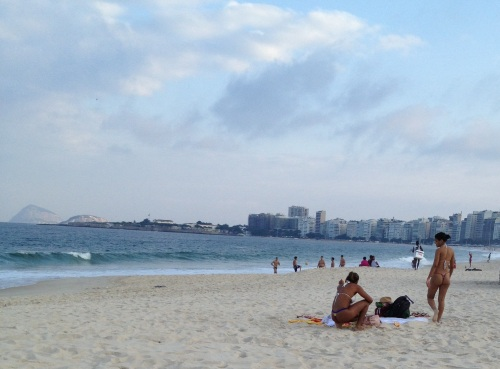 Dental floss bikinis on Copacabana