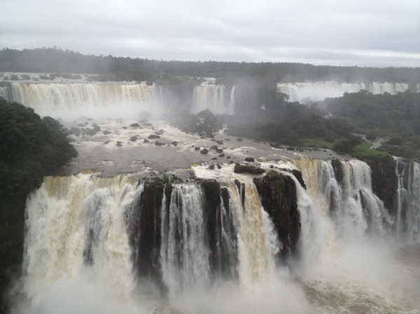 Brazilian side view of the falls